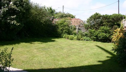 Stow Mill - back garden