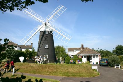 Stow Mill as a tourist attraction, with shop